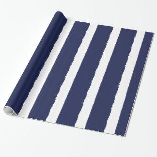 De Marine van waterverven en Witte Strepen Inpakpapier