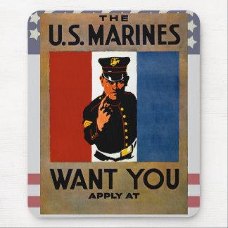 De marine wil u muismat