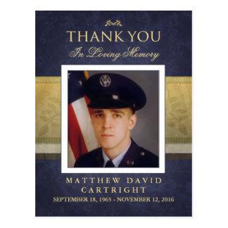 De marineblauwe & Gouden Sympathie dankt u het Briefkaart