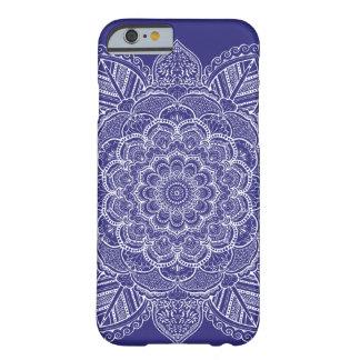 De marineblauwe Kleur Mandala van de Douane Barely There iPhone 6 Hoesje