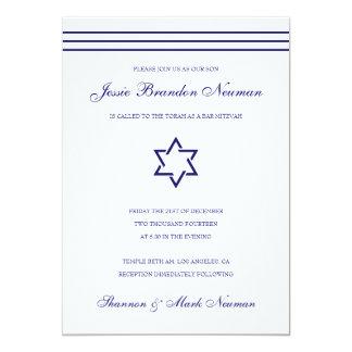 De marineblauwe Uitnodiging van Mitzvah van de