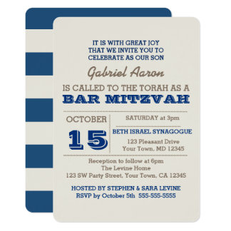 De marineblauwe & Zilveren Uitnodiging van de Bar