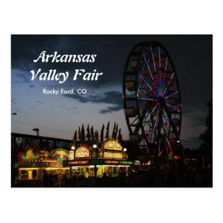 De Markt van de Vallei van Arkansas bij het Briefkaart
