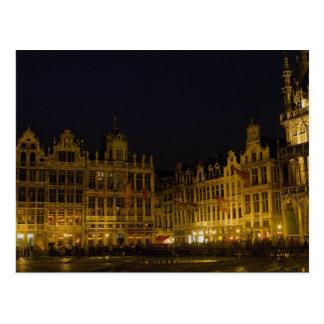 De Markt van Grote, Brussel, België Briefkaart