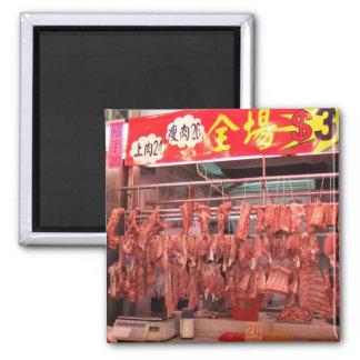 De Markt van het Vlees van Hong Kong Magneet