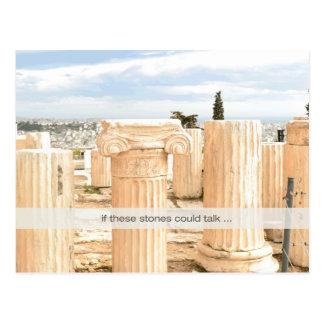 De marmer Herenigde Pijlers van het Briefkaart op