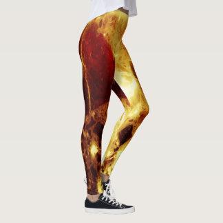 De marmeren beenkappen van de vlam leggings