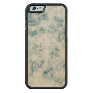 De marmeren Blauwe Achtergrond van de Textuur Esdoorn iPhone 6 Bumper Hoesje