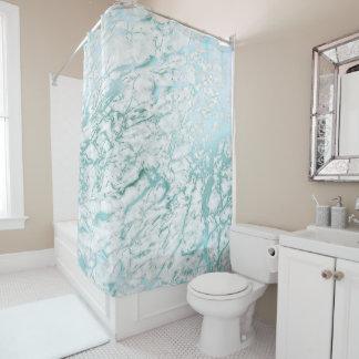 De marmeren Blauwe Wintertaling van Carrara van de Douchegordijn
