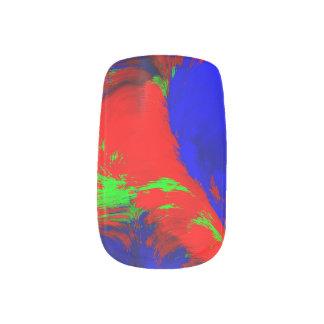 de Marmeren Rode Blauwgroene Werveling van het Minx Nail Folie