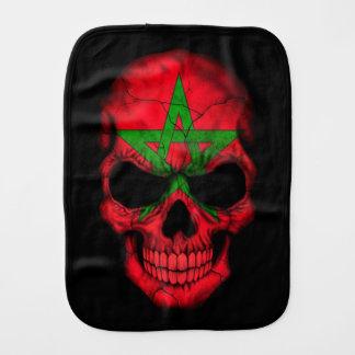 De Marokkaanse Schedel van de Vlag op Zwarte Baby Spuugdoekjes