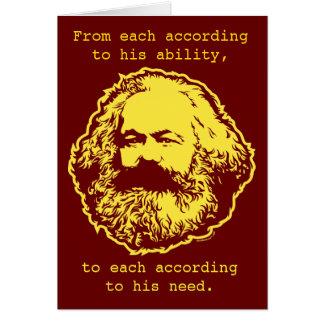 De marxistische Kaart van de Verjaardag