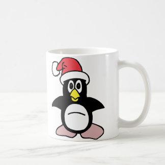 De Mascotte van de Pinguïn van de kerstman Koffiemok
