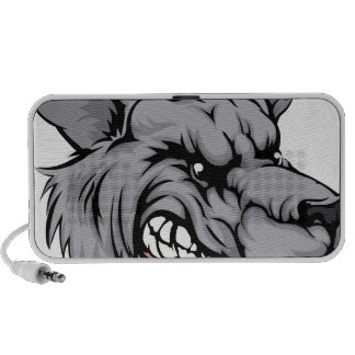 De mascottekarakter van de wolf iPhone speaker