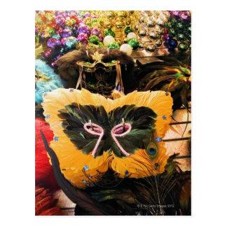 De maskers en de parels van Gras van Mardi op Briefkaart