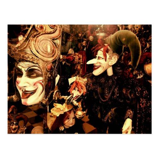 De Maskers van Carnaval Wenskaart