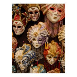 De Maskers van Carnaval in Venetië Briefkaart