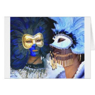 De Maskers van Carnaval, Venetië Kaart