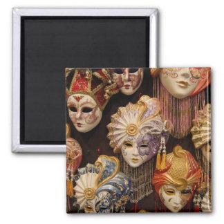 De Maskers van Carnivale in Venetië Italië Magneet