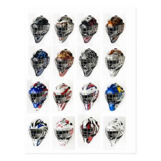 De Maskers van het hockey Briefkaart