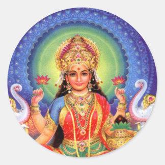 De Massa van Lakshmi van de godin Ronde Sticker