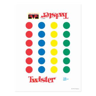 De Mat van het Spel van Twister Briefkaart