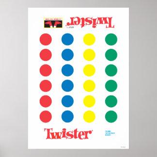 De Mat van het Spel van Twister Poster