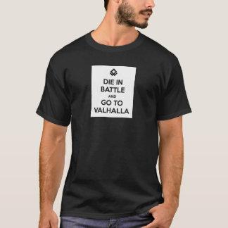 De matrijs in Slag en gaat naar T-shirt Valhalla