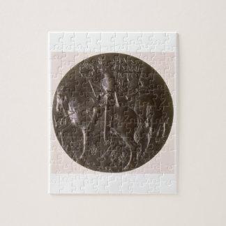 De medaille van het portret, het omgekeerde afschi puzzels