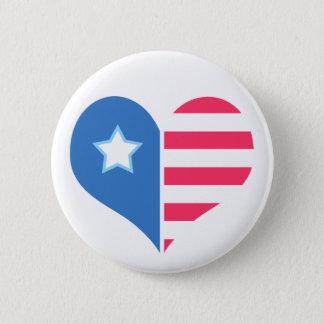 De medelevende Knoop van de Sticker van de Patriot Ronde Button 5,7 Cm