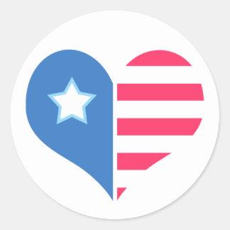 De medelevende Sticker van de Patriot