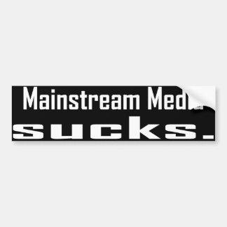 De Media van de heersende stroming zuigen Bumpersticker