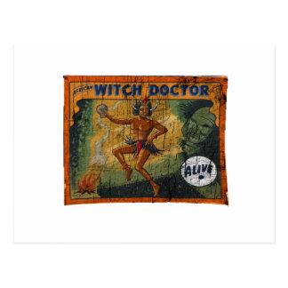 De Medicijnman van de Banner van de bijzaak Briefkaart