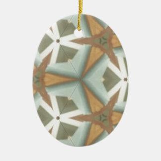 De Medio Driehoek Patt van de Cent ZAZ Keramisch Ovaal Ornament