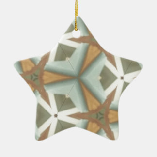 De Medio Driehoek Patt van de Cent ZAZ Keramisch Ster Ornament