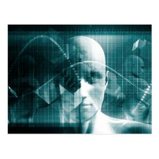 De medische Futuristische Technologie van de Briefkaart