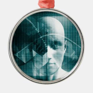 De medische Futuristische Technologie van de Zilverkleurig Rond Ornament