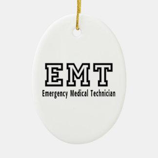 De Medische Technicus van de noodsituatie Keramisch Ovaal Ornament