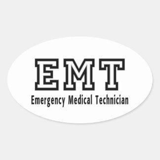 De Medische Technicus van de noodsituatie Ovale Sticker