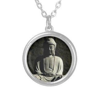 De Meditatie van Boedha Zilver Vergulden Ketting