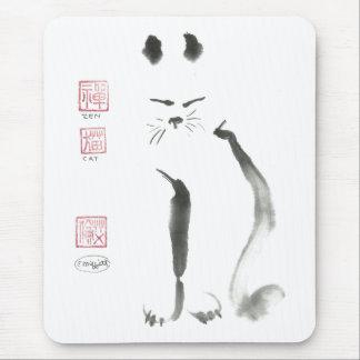 De Meditatie van de Kat van Zen - sumi-E [inkt die Muismat