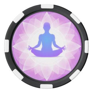 De Meditatie van de yoga Pokerchips