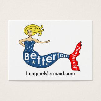 De Meermin van Betterton in ImagineMermaid.com Visitekaartjes
