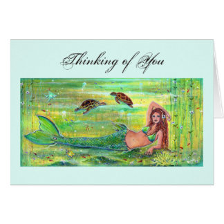De meermin van de calypso met de kaart van kaart