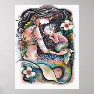 De Meerminnen, het mamma en het kind van de slaap Poster
