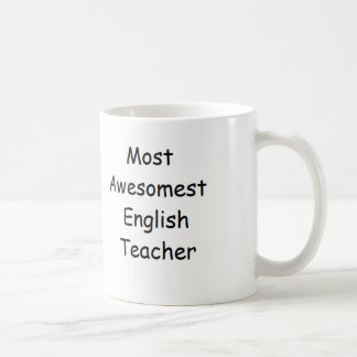 De meeste Engelse Mok van de Leraar Awesomest