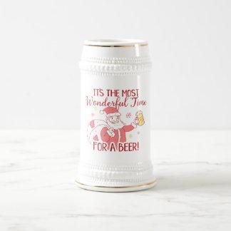 De meeste Prachtige Tijd voor de Kerstman van een Bierpul