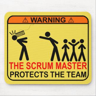 De meester van het Scrum beschermt het Team Muismatten