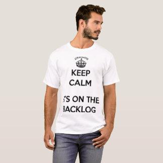 De Meester van het scrum houdt Kalm, Zijn de T Shirt