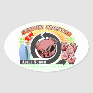 De Meester van het scrum Ovale Stickers